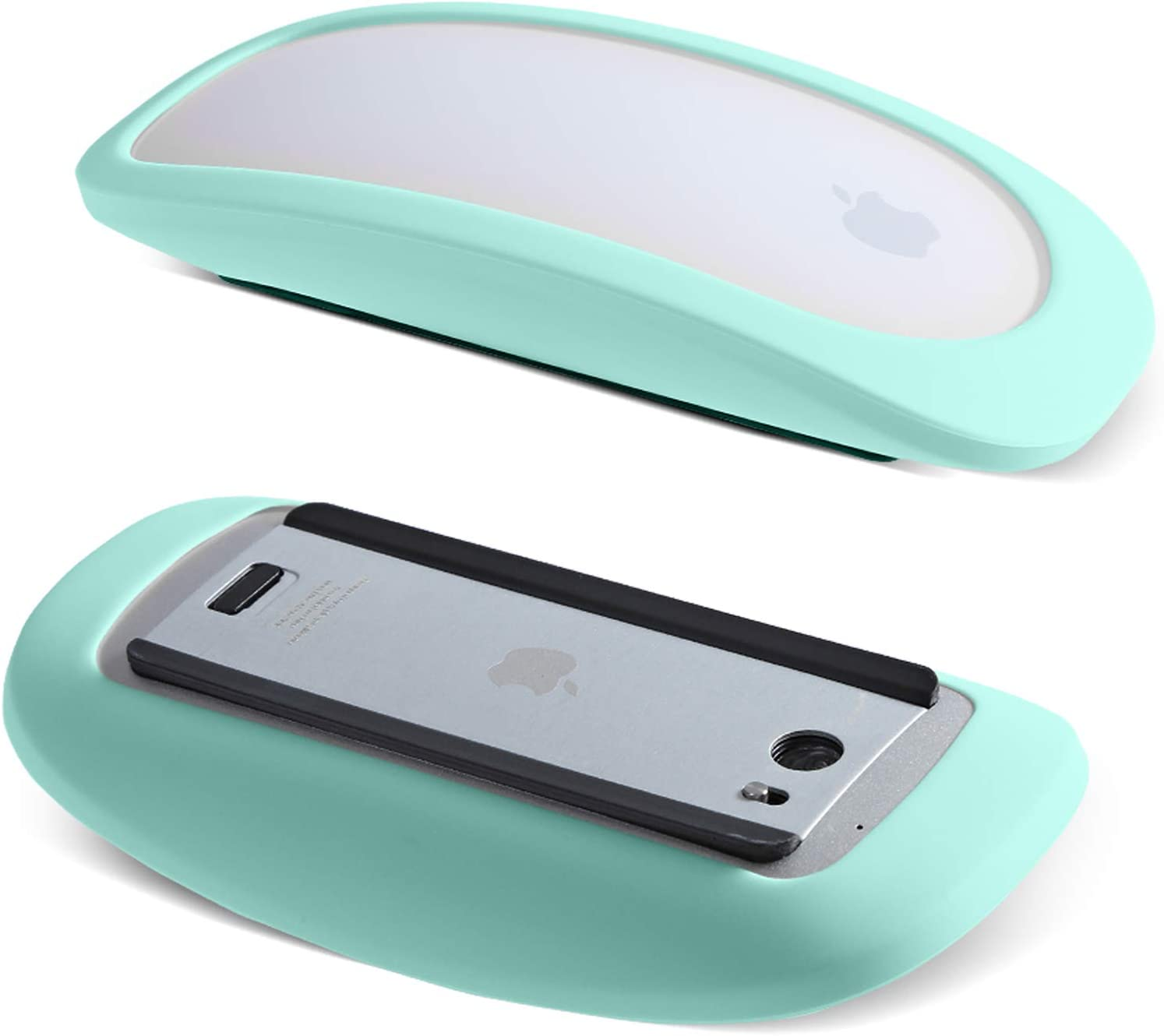 Protective Sleeve for Apple Magic Mouse 1 and 2, Silicone Case Cover Compatible with Apple Magic Mouse Lightweight Anti-Slip (Turquoise)