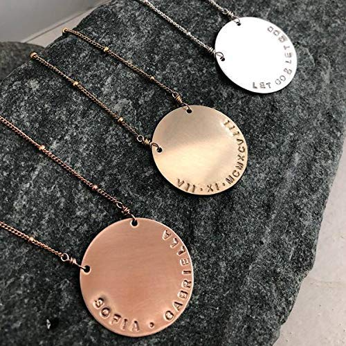 The Vida Personalized Disc Necklace travel product recommended by Francoise Shirley on Pretty Progressive.