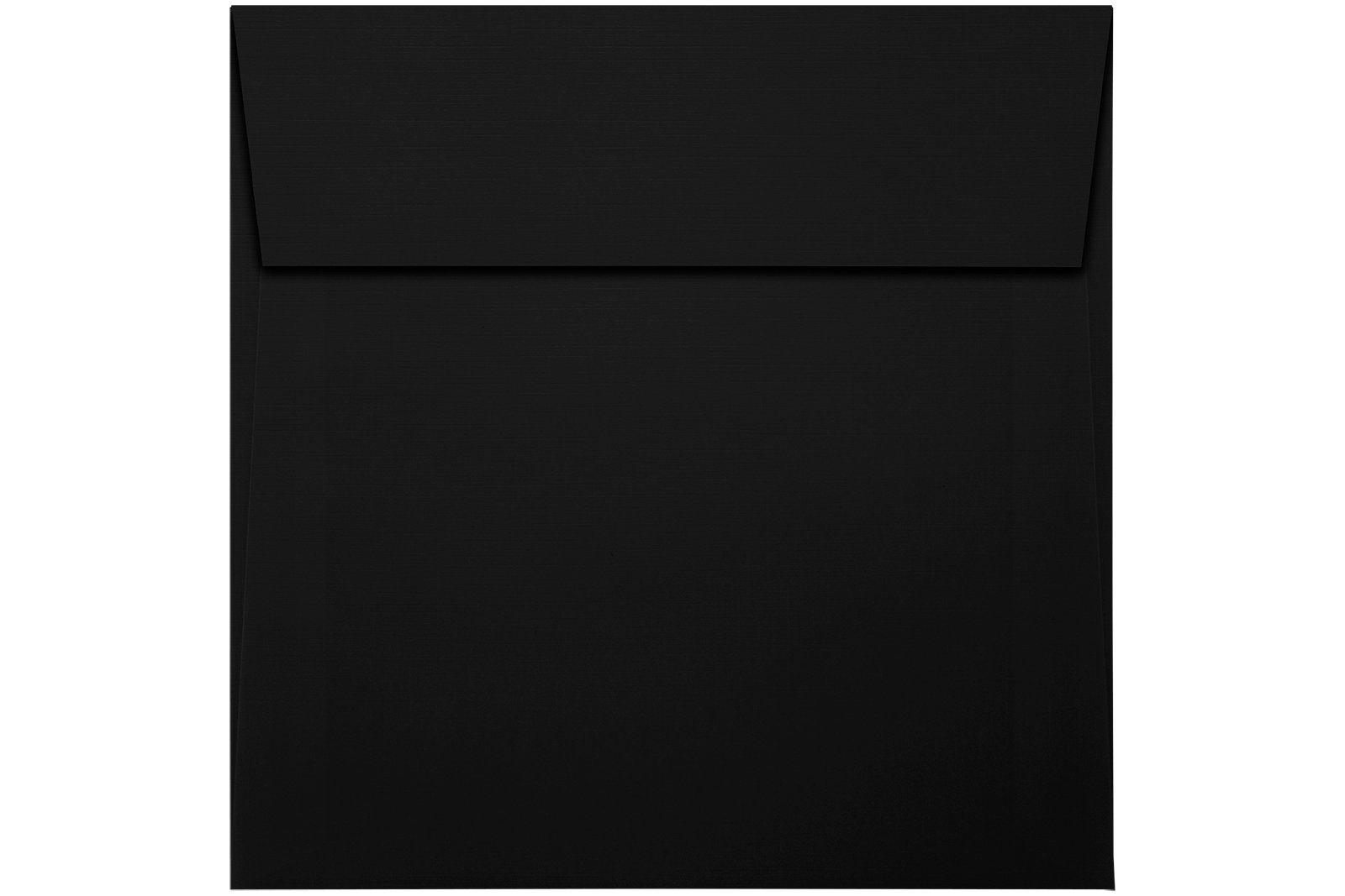 5 3/4 x 5 3/4 Square Envelopes w/Peel & Press - Black Linen (50 Qty.) | Perfect For Thank You Notes, RSVPs, Greeting Cards, Weddings or any Announcement | 80lb Text Paper | 8520-BLI-50