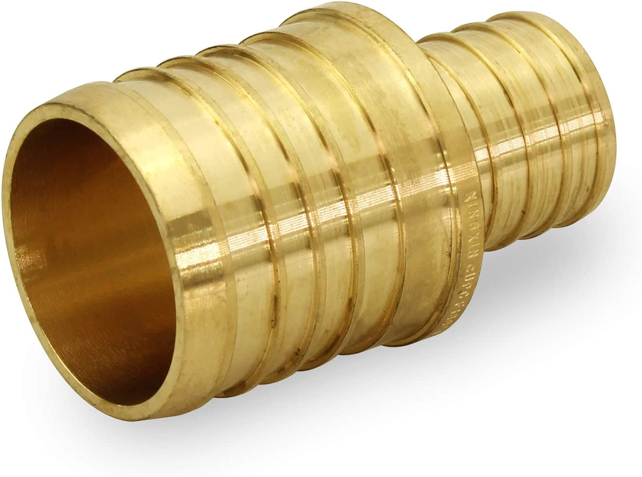 Barb Connection Durability Easy to Install Compatible with PEX Pipe Everflow EPRC3412-NL 3//4 Inch X 1//2 Inch Lead Free Brass Straight Coupling with Pex Ends Low-Cost plumbing Connection System