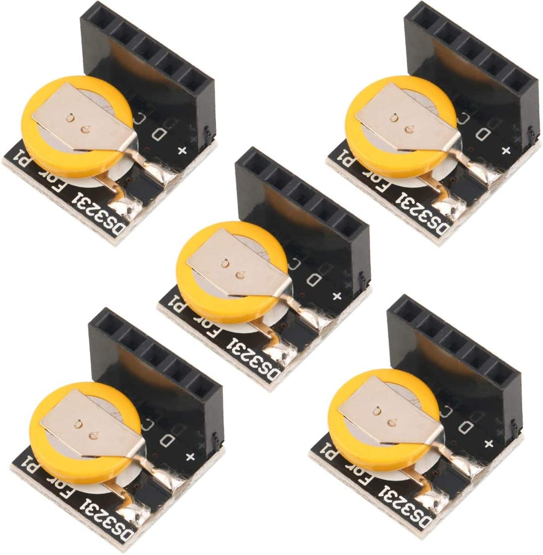 HiLetgo 5pcs DS3231 High Precision RTC Real Time Clock Module 3.3V/5V for Arduino Raspberry Pi