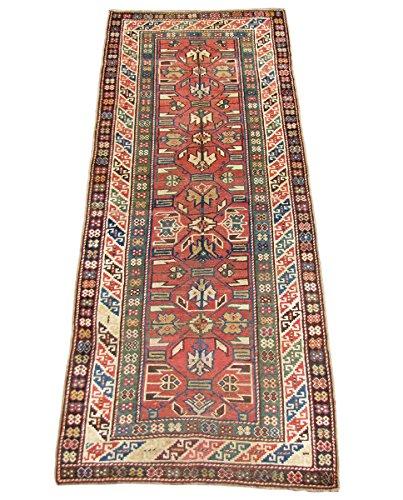 Antique Caucasian Kazak Runner Rug rr1473