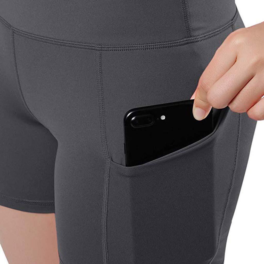 KiyomiQaQ Leggings de Sport Femme Shorts Taille Haute Pantalon Yoga Collants et Leggings Taille Haute Sportswear Pantalons de Sport V/êtements de Sport Pantalon Cargo S/échage Rapide avec Poches