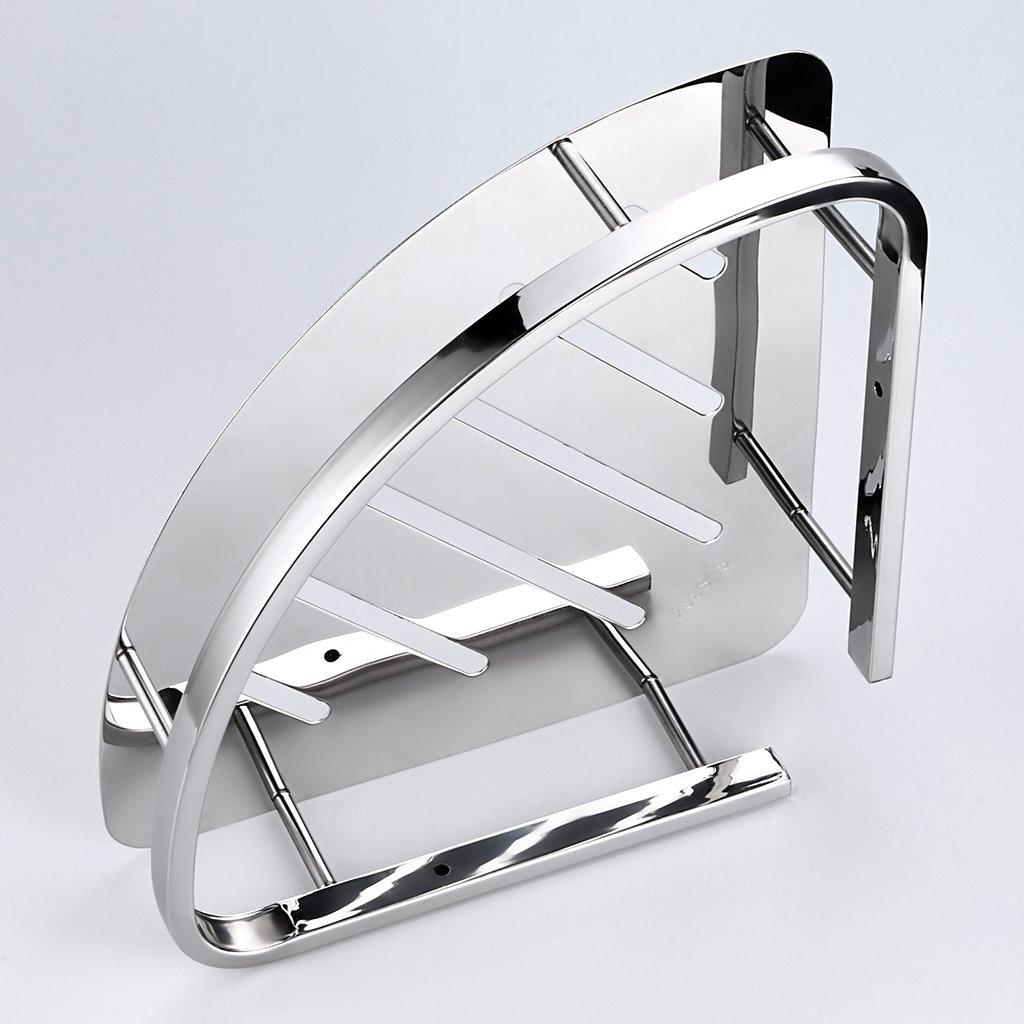 sumnacon shower caddy corner basket stainless steel shower shelf bathroom 606719428038 ebay. Black Bedroom Furniture Sets. Home Design Ideas