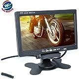 Ecran TFT LCD 7'' (17,8 cm) avec LED Rétroéclairage et Support DVD Magnétoscope pour Voiture Noir