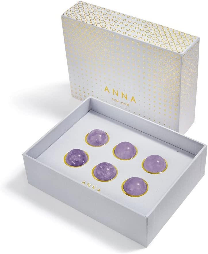 Fluorite ANNA by RabLabs Vida Wine Gems Set of 6,