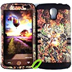 Cellphone Trendz Heavy Duty High Impact Hybrid Rocker Case Cover for LG Volt LS740 F90 – Hunter Series Real Camo Mossy Deer Hard Case (Black)