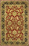 Cheap Safavieh Heritage Collection HG628C Handcrafted Traditional Oriental Red and Black Wool Area Rug (4′ x 6′)