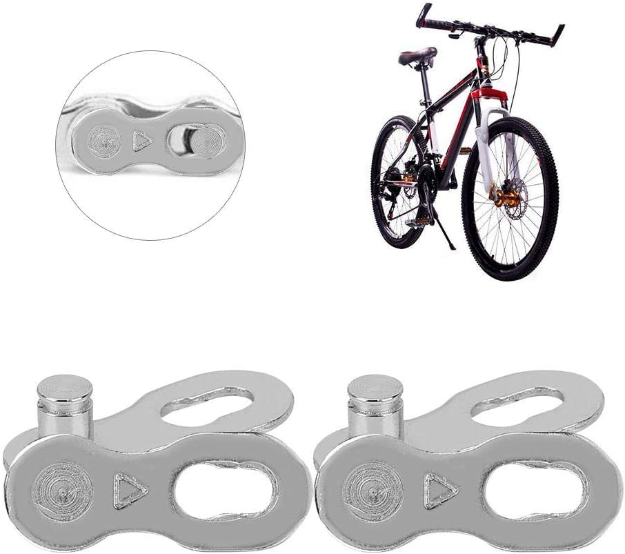 VGEBY1 Bike Chain Connector 2 Pairs Bike Chain Link Quick Release Link Magic Buckle Joint Speed Chains Connector Clip
