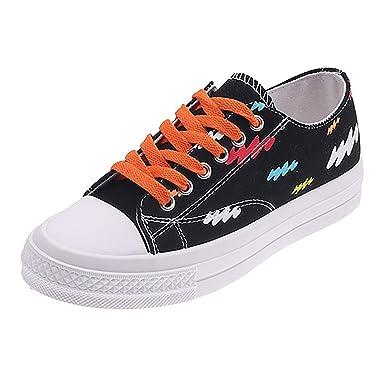DressLksnf Zapatos de Lona para Mujer Ligeros Respirable Planas ...
