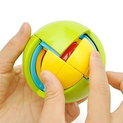 HJXDtech- Juguetes educativos 3D Mágico Puzzle Ball Montaje 4 Capas Bloques de Construcción Bola Intelectual: Juguetes y juegos