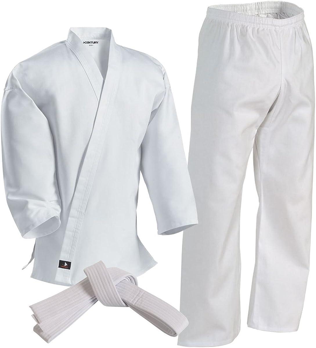 Martial Arts Lightweight Karate Uniform For Kids /& Adult with Free Belt 6.5 oz