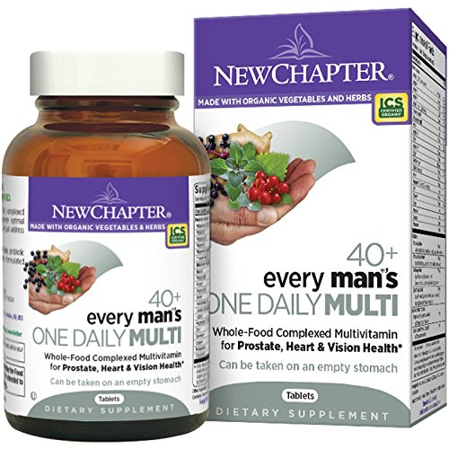 New Chapter Every Man's One Daily 40 Plus, 72 Count (New Chapter Daily Ginger)