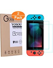 Yosou Protector Pantalla para Nintendo Switch [2 Pack],Cristal Vidrio Templado Protector de Pantalla para Nintendo 6.2inch/0.3mm Premium HD Clear Anti-Scratch Protector Nintendo Switch 2017