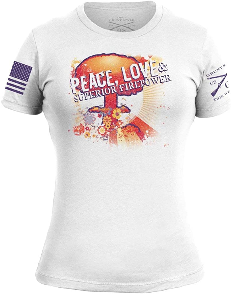 Grunt Style Peace, Love, Superior Firepower Women's T-Shirt