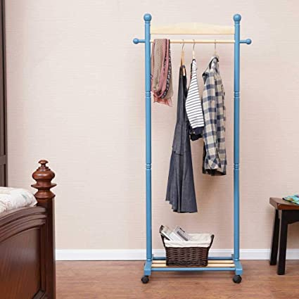 Amazon.com: Solid Wood Coat Rack Floor Type Bedroom Simple ...