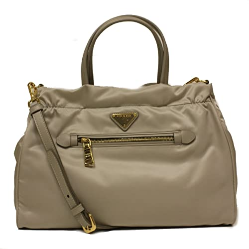 Prada B1843M Pomice Gray Tessuto Saffian Nylon and Leather Shopping Tote Bag Price:$1,395.00 & FREE Shipping.