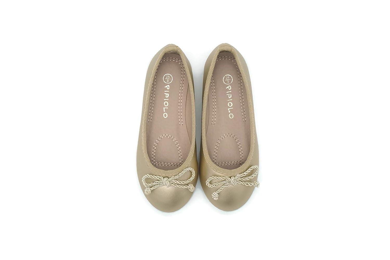 Pipiolo Sport Bow Slip On Ballet Flats Shoes for Girls Toddler//Little Kid//Big Kid