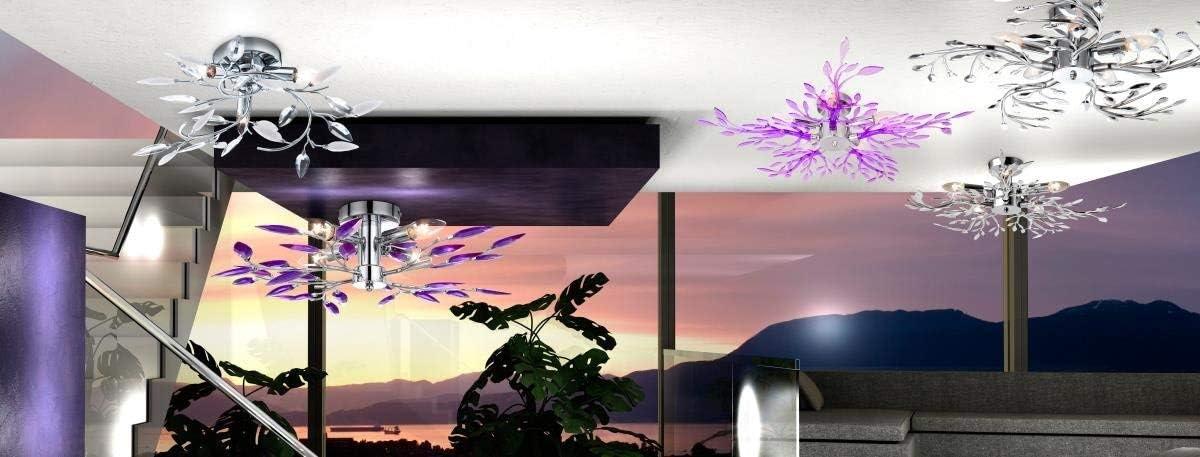 LAMPADINE ESCLUSE 63165-4 4xE14 40W Art Globo PLAFONIERA METALLO CROMO