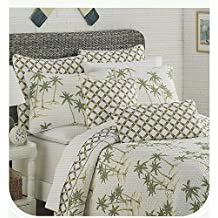 Sigrid Olsen Maui Palm Trees 3 Piece Quilt and Shams Set Full Queen