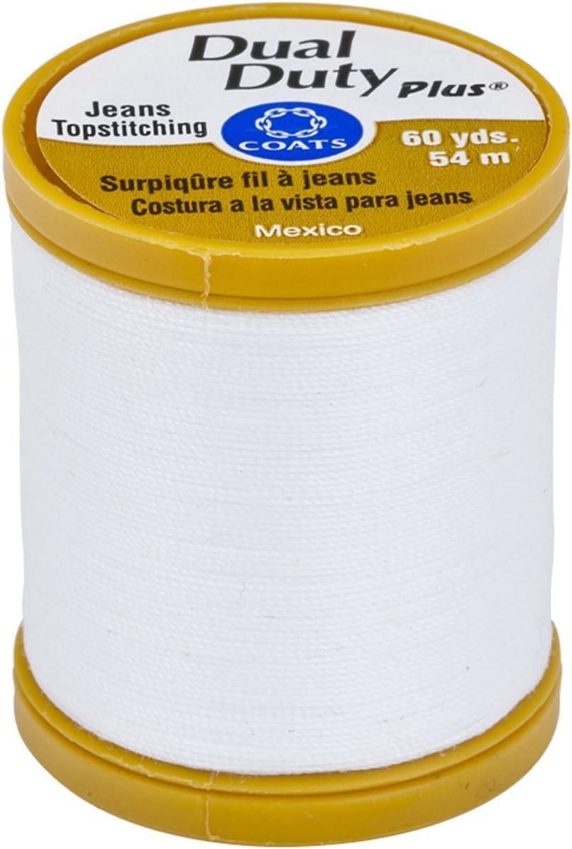 White Coats Thread /& Zippers Coats Dual Duty Plus Jean /& Topstitching Thread