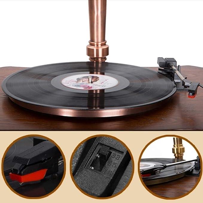 ZCD Retro Phonograph vinilo grabación/antiguo portátil de ...