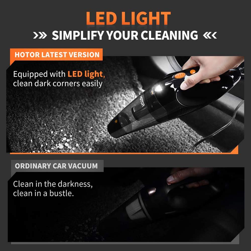 Amazon.com: Aspiradora para coche Hotor, 12 V, aspiradora ...