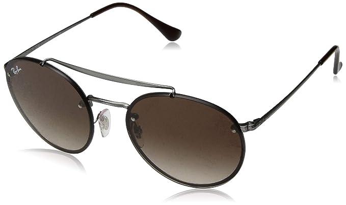 d4b9279f55 Amazon.com  Ray-Ban 0rb3614n Round Sunglasses Demi Gloss Gunmetal 54 ...