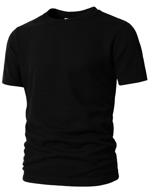 【H2H】 メンズ カジュアル ファッション ワッフル ヘンリー Tシャツ ポケット付き CMTTS0147 B07C1QN4MC X-Large Kmtts0565-black Kmtts0565-black X-Large