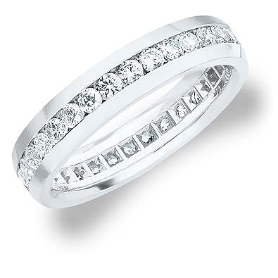 8d7fdc84e02 1.5 CT Men s Diamond Eternity Ring in 14K White Gold