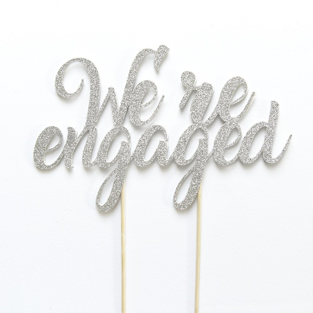 Engaged Cake Topper. Engagement Party Decoration. We're Engaged Cake Topper. Engagement Cake. Getting Married. Wedding Bridal Party.Getting Engaged Reveal Party. We are Engaged.