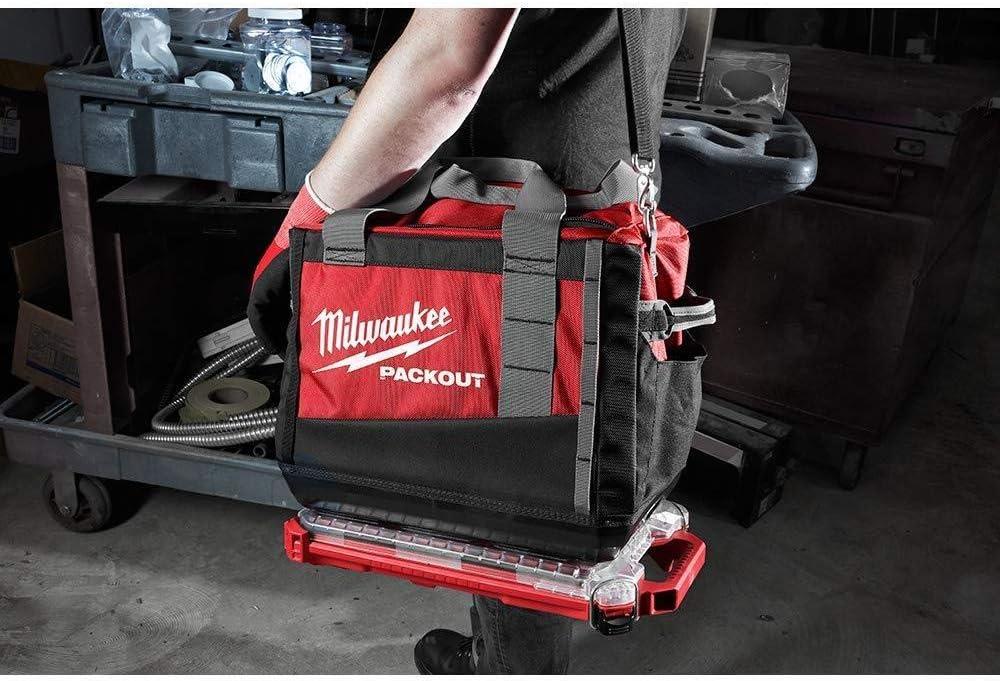 Milwaukee 48-22-8436 Packout Organizador compacto de bajo perfil, rojo/transparente, 2,3 pulgadas x 9.8