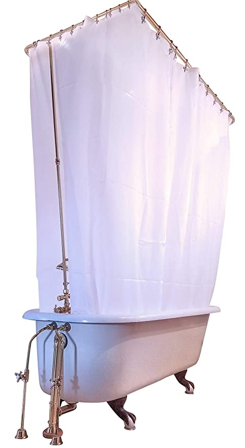 Amazoncom Clawfoot Designs Heavy Duty Peva Tub Shower Curtain No