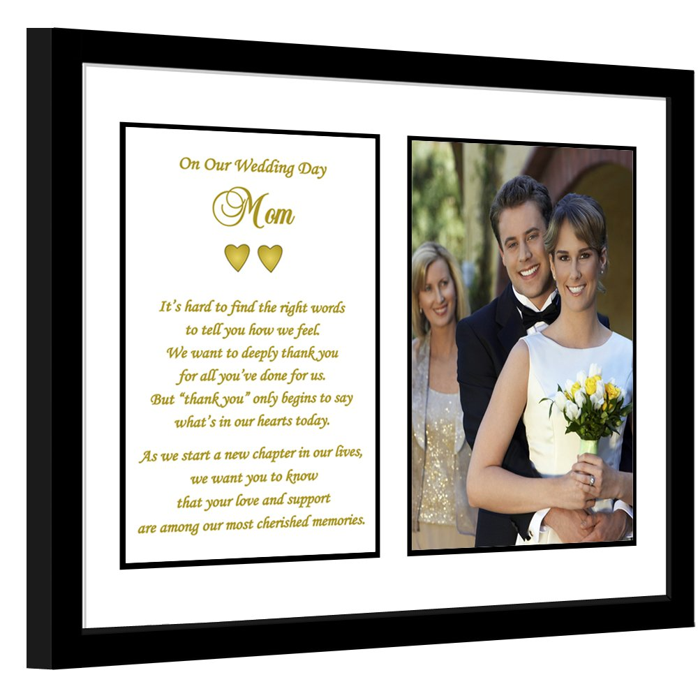 Mother Wedding Thank You Gift From Both Bride and Groom, Poem for Mom, Add Photo