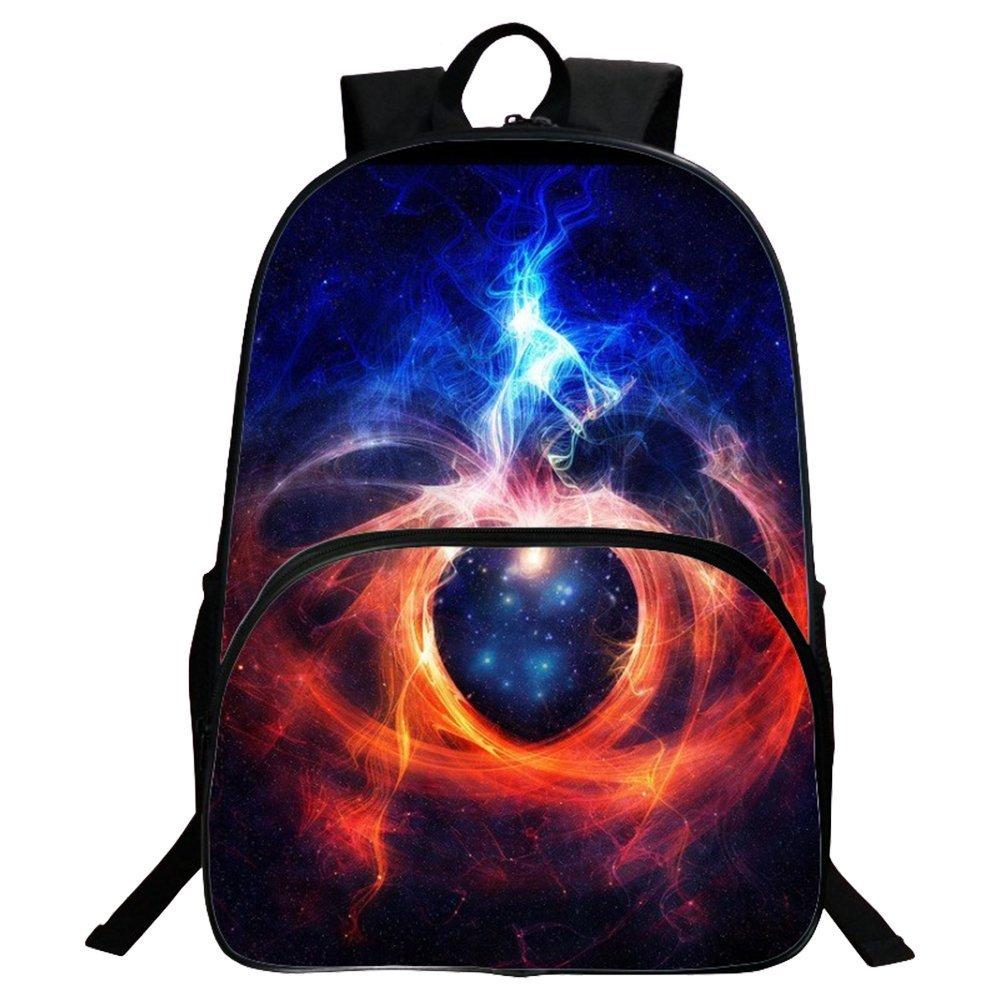 Mochila bolsas, Global Fashion Galaxy cielo impresión mochilas colegio mochila/escuela mochila para niños y niñas adolescentes, Blue (Black) Global I Mall