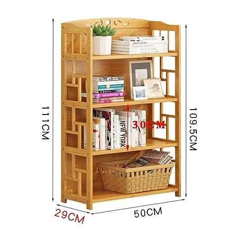 Amazon.com: Práctica estantería de bambú para estantería ...