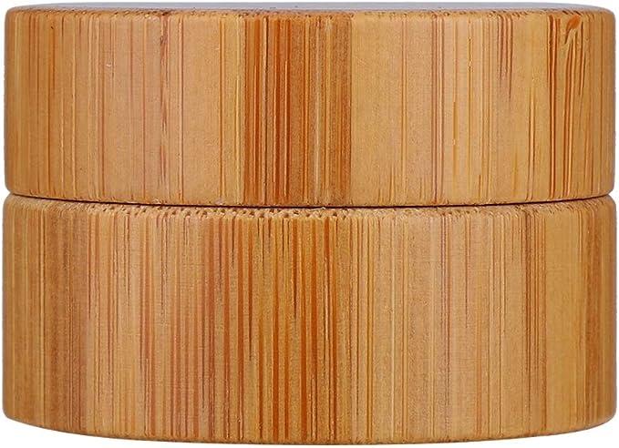 Nannday Caja vacía cosmética, Botella de Crema portátil de bambú ...