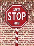 Caroline's Treasures SB3118GF Santa Claus Stop Here Stop Sign Flag, Small, Multicolor