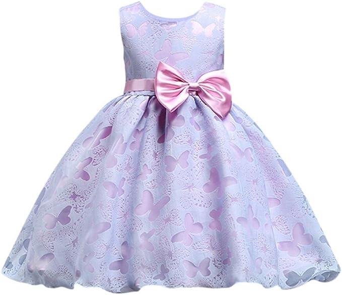 Vestiti Eleganti Bimba 7 Anni.Uomogo Royal Bambina Senza Maniche Filati Netti Ricamo Fiore