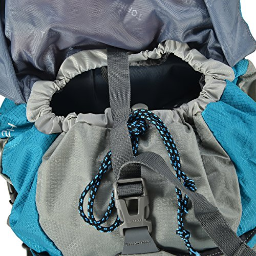 TOFINE External Frame Hiking Backpack Trip Backpacking Camping Gear with Rain Cover Tiffany 32 Liter