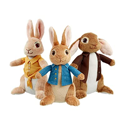 Rainbow Designs Peter Rabbit, Benjamin Bunny and Mopsy Plush Toy Set: Toys & Games
