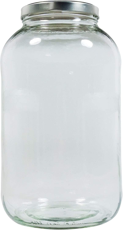 XXL Verre avec Argent 4250/ml bocaux de couvercles dor/és bocal en verre Bo/îte en verre avec /étiquette