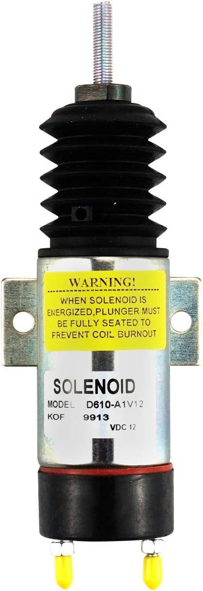 Notonparts 2 Speed Terminals Stop Off Solenoid D610-A1V12 1502-12C2U1B1S1 For Kubota Engine WG-750 DF-750 DF-752 DF-972 D-905 D1105 Z482