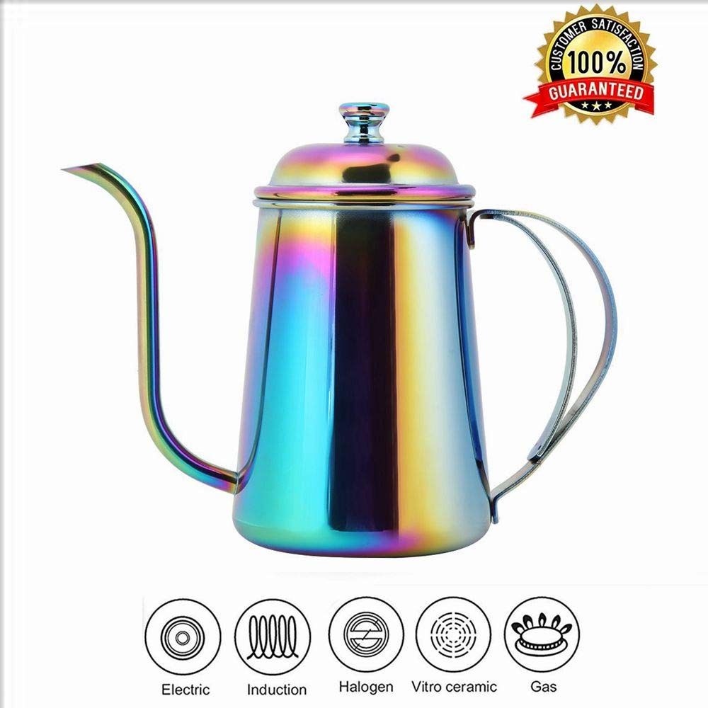 Coffee Pot, 650ML Stainless Steel Coffee Maker Gooseneck Pot Long Mouth Kettle Hand Punch Coffee Kettle by Jacksking