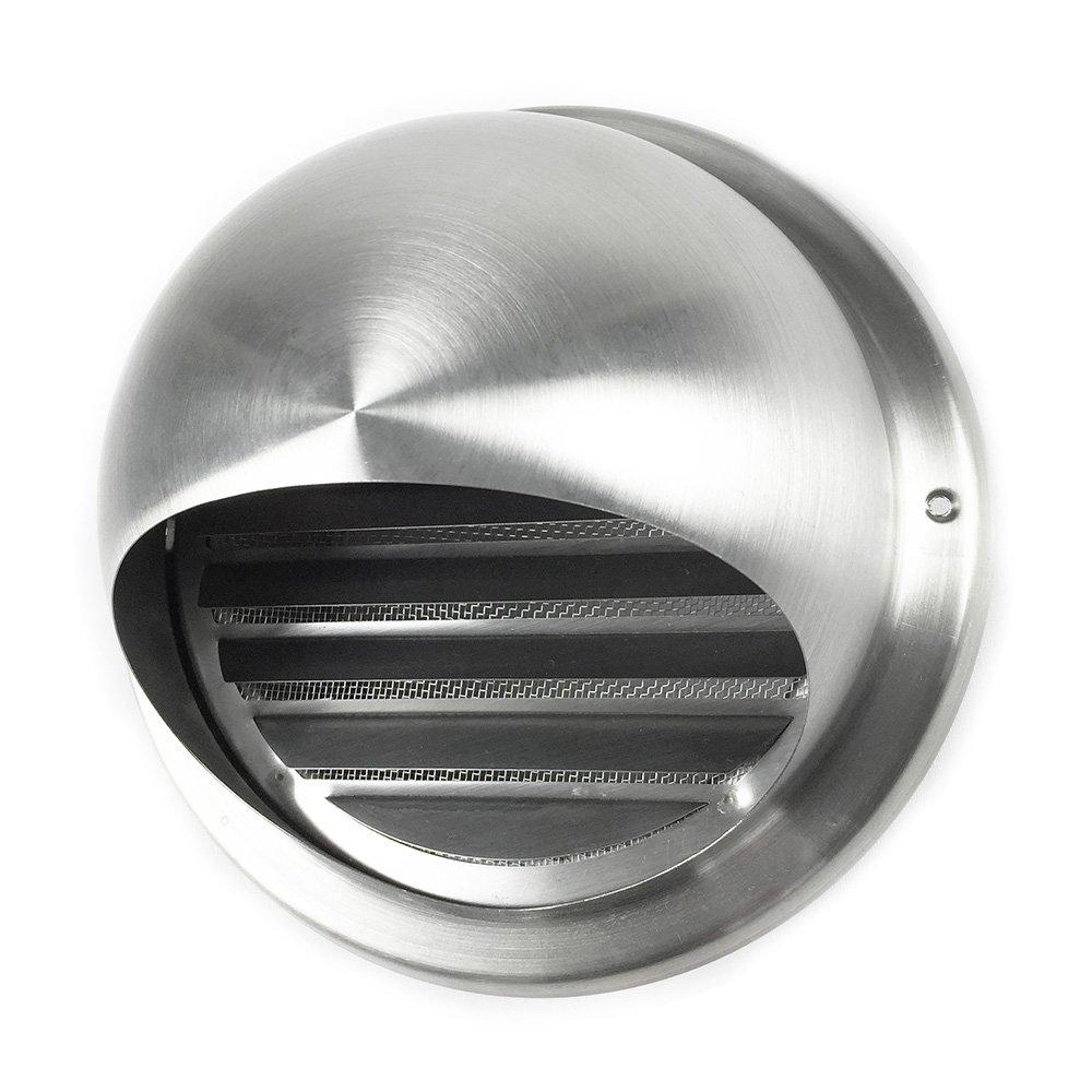 EASYTEC® Mauerkasten Ø 150 mm/Blende aus Edelstahl für Dunstabzugshauben und Lüftungsanlagen/Außenjalousie/Rohrblende/Abdeckung/Außenhaube/Außengitter easytec Lüftungstechnik