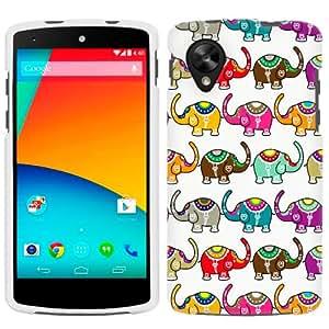 LG Nexus 5 Colorful Elephant Pattern Phone Case