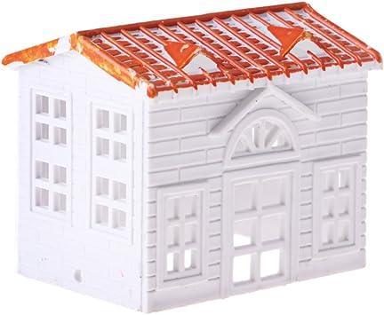 non-brand Modelo Accesorios Hecho de Plástico para DIY Construcción Juego de Caja de Arena (Casa / Gasolinera / Estación Casa pequeña 6.2x4.4x5.4cm: Amazon.es: Juguetes y juegos