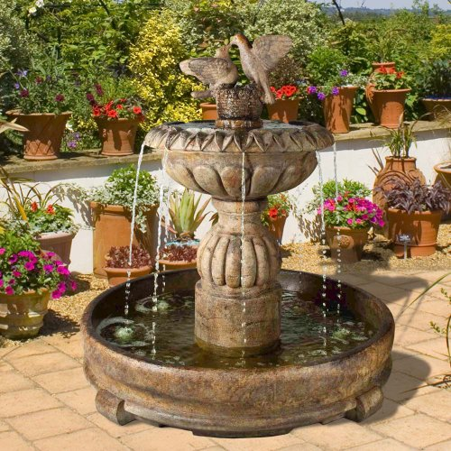 Fountain Cascada - Henri Studio Paloma Cascada In Rondo Pool Fountain - Stone Finish