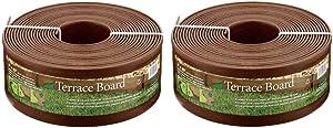Master Mark Plastics 95340 Terrace Board Landscape Edging Coil, 5-inch x 40-Foot, Brown (2 Pack)