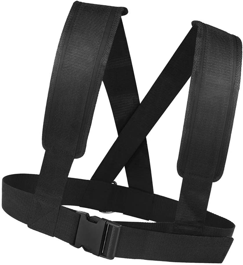 color negro para mujeres y hombres Chaleco de arn/és con almohadilla para los hombros Aiecis entrenamiento de fuerza correa de resistencia